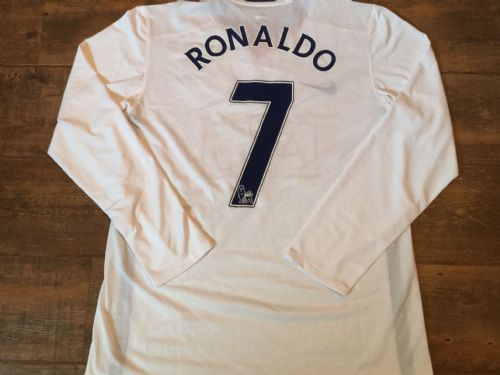 2008 2010 Manchester United  L/s Ronaldo Player Issue Football Shirt Adults XL